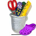 CROC - 3077 - Thimble Scissors Tape - Medium - Clog Shoe Decoration Charm