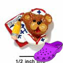 CROC - 3668 - Nurse Bear Face Charm Small - Clog Shoe Decoration Charm