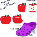 CROC - 0226 - Red & Black Card Suits - 4 Assorted - Clog Shoe Decoration Charm