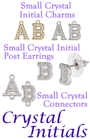 Small Initial Charms & Earrings