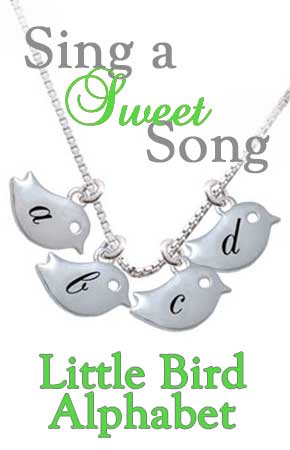 Little Bird Alphabet Charms