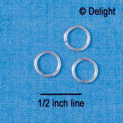 8mm Jump Rings (1mm thick)