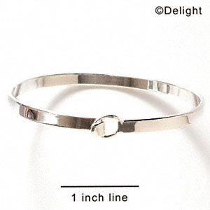 F1080 - Silver Latching Bangle Bracelet