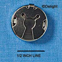 G0253 - Button Cover - Silvertone (12 per package)