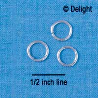 G5490 tlf - 8mm Jump Rings - 18 Gauge (1mm thick) (144 per package)