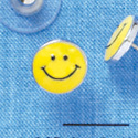 F1194 - Mini Yellow Smiley Face - Post Earrings (1 Pair per package)