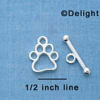 F1294 tlf - Open Paw & Bar Toggle Set
