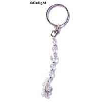 F1315 tlf - Long Clear Glass Keychain