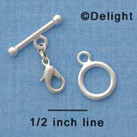 F1451 ctlf - Circle and Bar Toggle Clasp with Lobster Claw - Bracelet Converter (1 set per package)