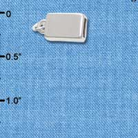 F1721 tlf - Rectangular End Cap - Silver Plated Finding (1 pair per package)