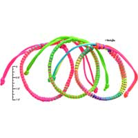 F1993 tlf - Macrame Friendship Bracelets - Hot Pink, Multi, Yellow -  (Not for Sale)