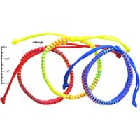 F1994 tlf - Macrame Friendship Bracelets - Red, Blue, Yellow -  (Not for Sale)