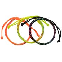 F1995 tlf - Macrame Friendship Bracelets - Black, Orange, Yellow -  (Not for Sale)