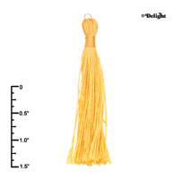 F2416+ tlf - Yellow Tassel - Fabric Charm