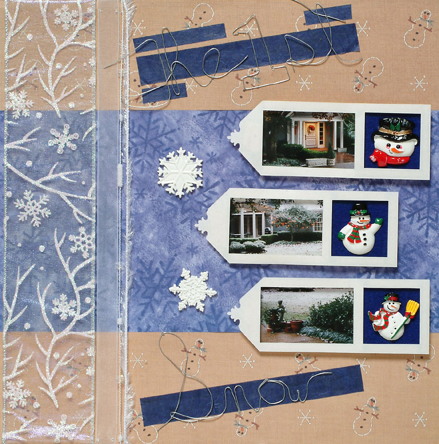 Snow Scrapbook Page