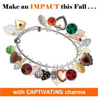 Crystal Fall Expandable Bangle Bracelet