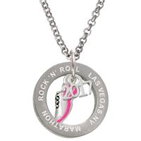 Custom Engraved Running Marathon Affirmation Ring Necklace