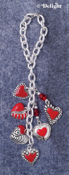 Red Heart Charms as Jean Jewelry
