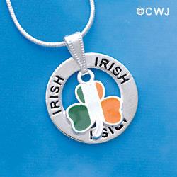 Irish Shamrock Affirmation Ring Necklace