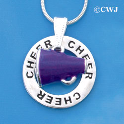 Megaphone Cheerleader Affirmation Ring Necklace