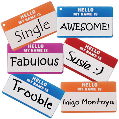 Fun Hello Name Tag Jewelry Ideas