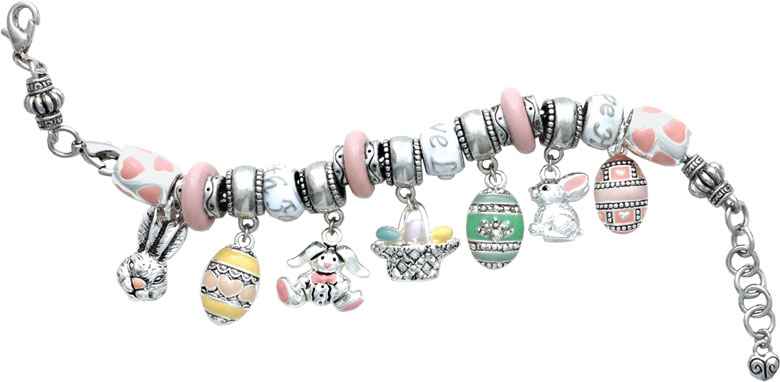 Easter Love Large Hole Bead Bracelet