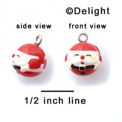 N1073+ tlf - Santa - 3-D Hand Painted Resin Charm