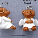 N1110+ tlf - Angel Bear - 3-D Hand Painted Resin Charm