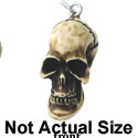 N1147+ tlf - Skull - Hand Painted Resin Charm