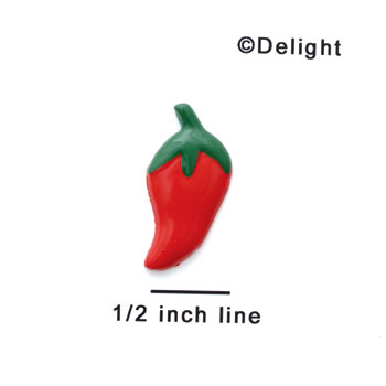 0029A* - Mini Red Jalapeno (Left & Right) - Resin Decoration