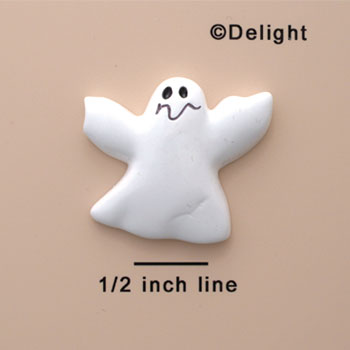 0110A* ctlf - Large White Ghost (Left & Right) - Resin Decoration
