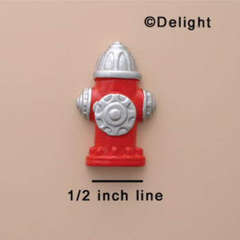 0755 - Large Red Fire Hydrant - Resin Decoration