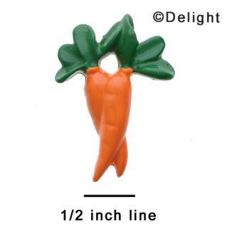 1067 - Medium Two Carrots - Resin Decoration