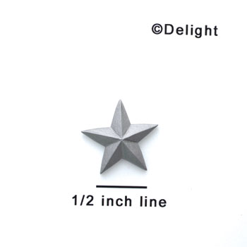 5410 - Star Silver Small Matte - Resin Decoration