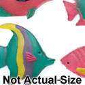 0285A-12* - Fish Crystal Teal - 4 Assorted - Resin Decoration (12 per package)