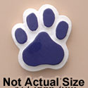 1820 tlf - Medium Purple Paw - Resin Decoration