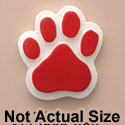 1821 tlf - Medium Red Paw - Resin Decoration
