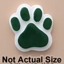 1822 tlf - Medium Green Paw - Resin Decoration