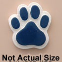 1823 tlf - Medium Blue Paw - Resin Decoration