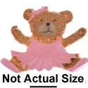 2223 tlf - Medium Pink Ballet Bear - Resin Decoration