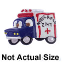 2261 tlf - Medium EMT Ambulance - Resin Decoration