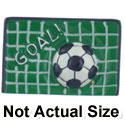 2527 - Soccer Goal Net with Soccerball - Resin Decoration