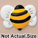 2792 tlf - Bee Front Yellow - Resin Decoration