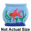 3287 - Fishbowl Gold Fish Medium - Resin Decoration