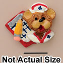 3668 tlf - Small Nurse Bear Face- Resin Decoration