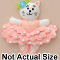 3868 tlf - Ballet Cat Pink Medium - Resin Decoration