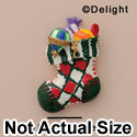 3942 ctlf - Stocking Red Check - Resin Decoration