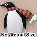 4511 tlf - Penguin Scarf Red Green Matte - Resin Decoration