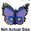 4766 tlf - Butterfly Monarch Purple Medium - Resin Decoration
