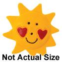 5028-PLAIN tlf - Large Yellow Sun with Red Heart Cheeks - Resin Decoration